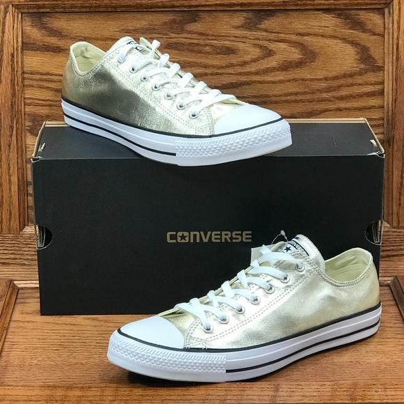 Converse CTAS OX Mens 11 Low Top Chucks Gold NWT